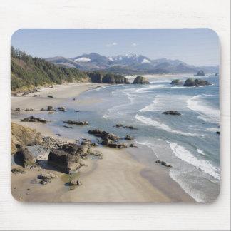 または、オレゴンの海岸、Ecolaの州立公園、三日月2 マウスパッド