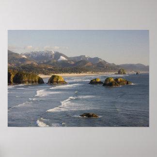 または、オレゴンの海岸、Ecolaの州立公園、眺めの ポスター