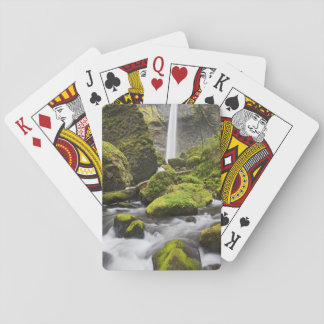 または、コロンビア川の峡谷、Elowahの滝 トランプ