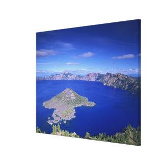または、crater湖NP、魔法使いの島そして噴火口 キャンバスプリント