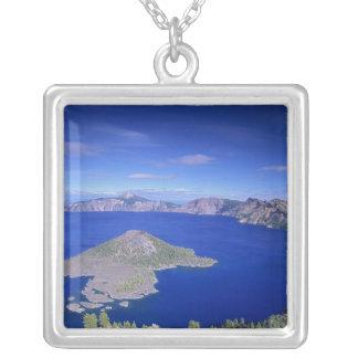 または、crater湖NP、魔法使いの島そして噴火口 シルバープレートネックレス