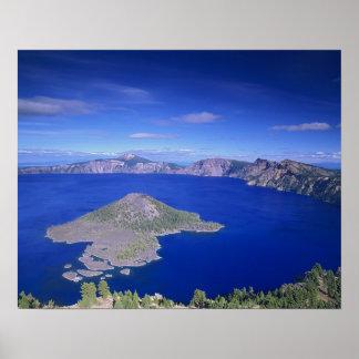 または、crater湖NP、魔法使いの島そして噴火口 ポスター