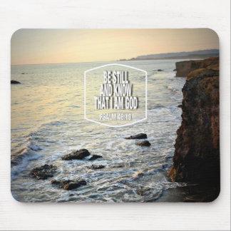 まだあり、日没で崖を知って下さい、浜に引き上げて下さい マウスパッド