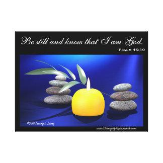 まだあり、私が神であることを知って下さい。 (賛美歌46: 10) キャンバスプリント