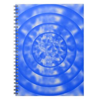 まだらにされた青および白いさざ波 ノートブック