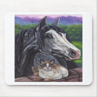 まだらにされた馬のRagdoll猫のマウスパッド マウスパッド