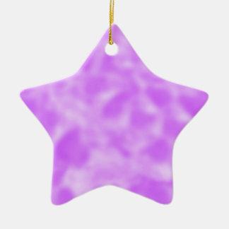 まだらにされる紫色および白 セラミックオーナメント