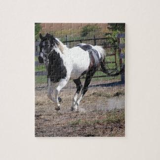 まだら馬のペンキの馬 ジグソーパズル