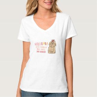 まだシーズー(犬)のTzuの私のTシャツを愛して下さい Tシャツ