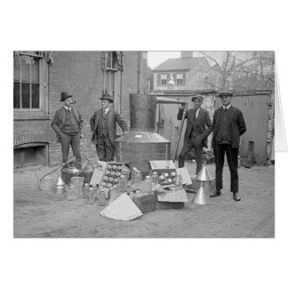 まだ密造酒の禁止の代理店、1922年 グリーティングカード