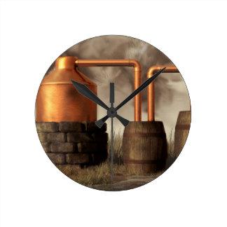 まだ泥地の密造酒 ラウンド壁時計