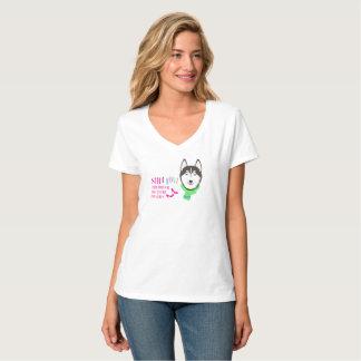 まだ私のハスキーなTシャツv1を愛して下さい Tシャツ