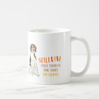 まだ私のビーグル犬v1を愛して下さい コーヒーマグカップ