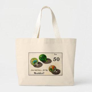まだ50で私の大理石を持って下さい ラージトートバッグ