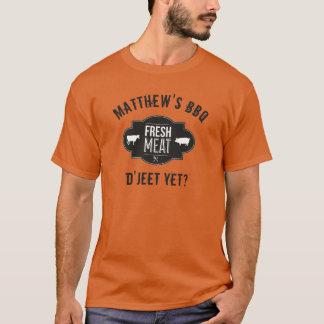まだD'Jeetか。 新鮮な肉 •カスタムBBQ Tシャツ