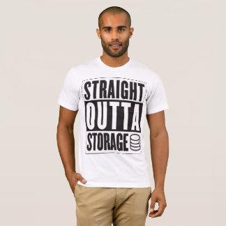 まっすぐなOuttaの貯蔵のTシャツ Tシャツ
