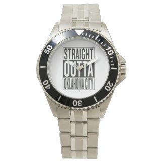 まっすぐなouttaオクラホマシティー 腕時計