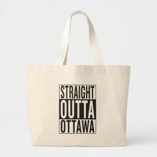 まっすぐなouttaオタワ ラージトートバッグ