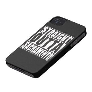 まっすぐなOuttaサクラメントカリフォルニア Case-Mate iPhone 4 ケース