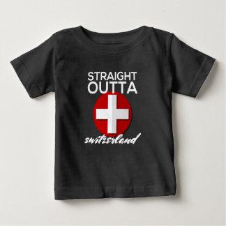 まっすぐなOUTTAスイス連邦共和国 ベビーTシャツ