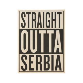 まっすぐなouttaセルビア ウッドポスター