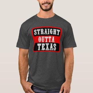 まっすぐなOuttaテキサス州V1 Tシャツ