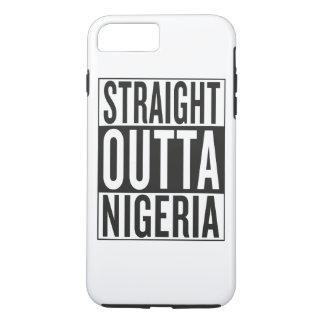 まっすぐなouttaナイジェリア iPhone 8 plus/7 plusケース