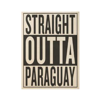 まっすぐなouttaパラグアイ ウッドポスター
