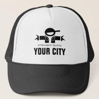 まっすぐなOutta DJのトラック運転手の帽子|はあなたの都市名前を加えます キャップ