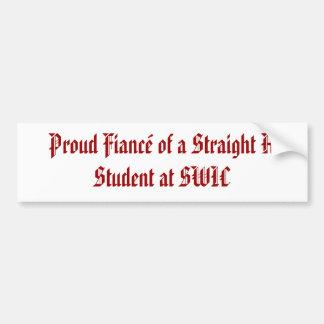 まっすぐのの誇り高い婚約者SWICの学生 バンパーステッカー