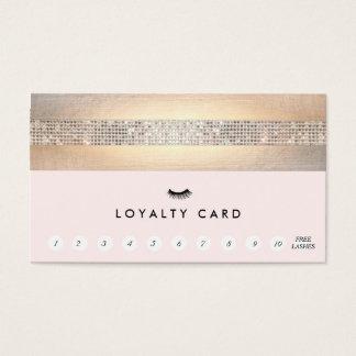 まつげ延長ピンクの顧客のロイヤリティ11の穿孔器 名刺