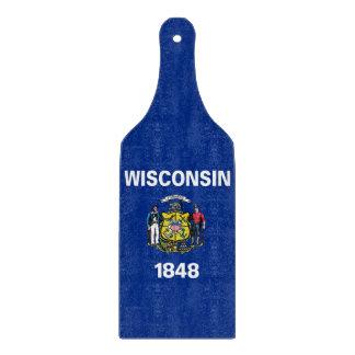 まな板のかいウィスコンシンのガラス旗 カッティングボード
