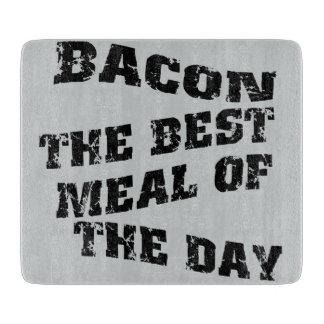 まな板のベーコン日の最も最高のな食事 カッティングボード