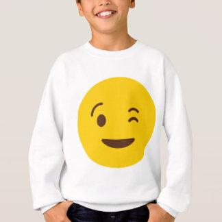 まばたきEmoji スウェットシャツ