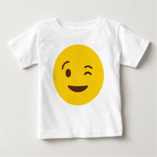 まばたきEmoji ベビーTシャツ