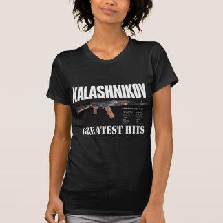 まれで新しく黒い綿のロシア人のカラシニコフ自動小銃銃のTシャツ Tシャツ