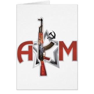 まれなカラシニコフ自動小銃AKMの軍隊のカラシニコフ銃の軍隊 カード