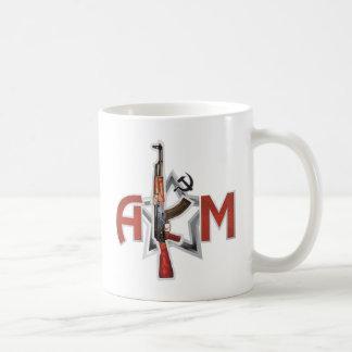 まれなカラシニコフ自動小銃AKMの軍隊のカラシニコフ銃の軍隊 コーヒーマグカップ