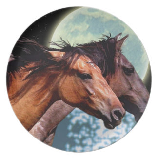 まれなスペインのなムスタングの馬好きの芸術のプレート プレート