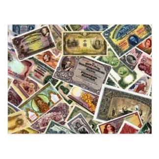 まれな世界の銀行券 ポストカード