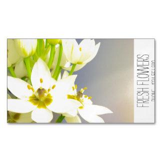 みずみずしい花の磁石 マグネット名刺