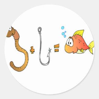 みみず + ホック=魚 ラウンドシール