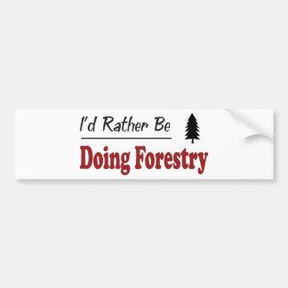 むしろ林業をしています バンパーステッカー