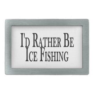 むしろ氷の魚釣りがあって下さい 長方形ベルトバックル