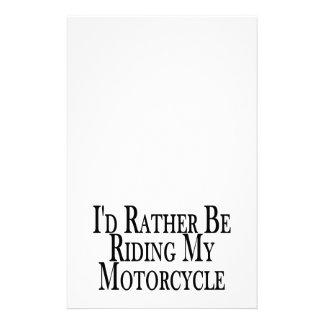 むしろ私のオートバイに乗っています 便箋