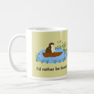 むしろ船遊びのハリネズミのマグがあって下さい コーヒーマグカップ
