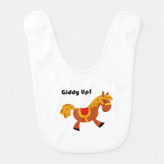 めまいがする上りの子供のブラウンの乗用馬の漫画: ベビービブ