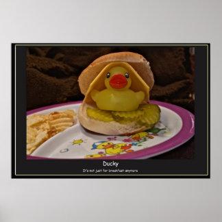 もう朝食のためのアヒルちゃん-ちょうど ポスター