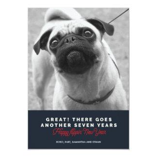 もう7年の犬新年の挨拶 カード