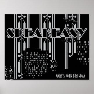 もぐり酒場、20年代の誕生会ポスター ポスター